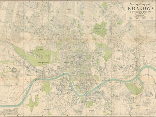1947, Szczegółowy plan Krakowa z przyległymi gminami