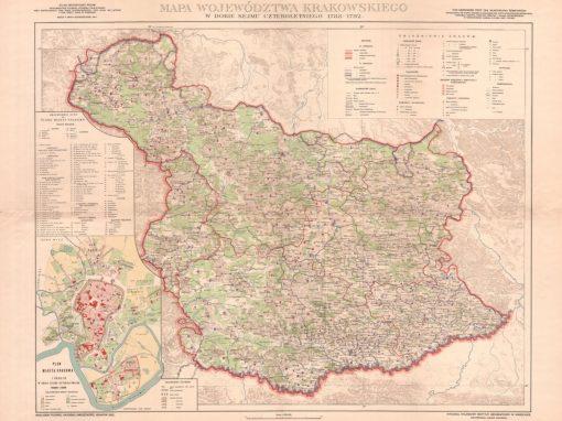 1788, Mapa województwa krakowskiego w dobie Sejmu Czteroletniego
