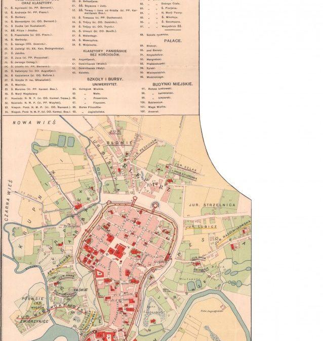 1788, Plan miasta Krakowa i okolic w dobie Sejmu Czteroletniego