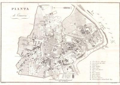 1831, Plan Wolnego Miasta Krakowa w obrębie okopów