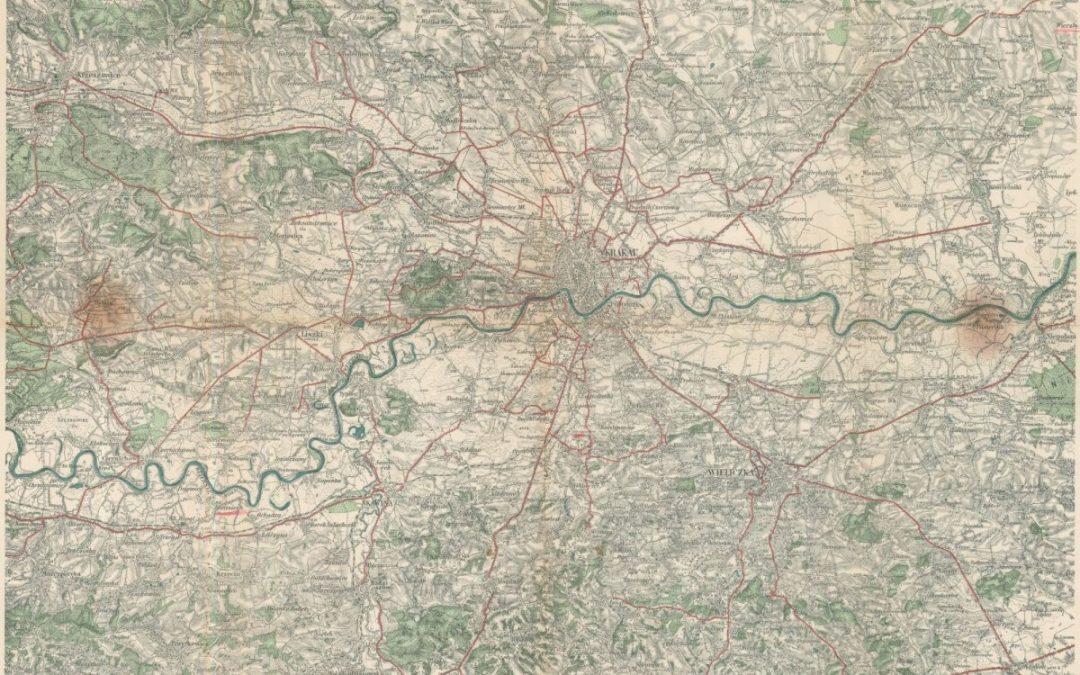 1885, Umgebungskarte von Krakau