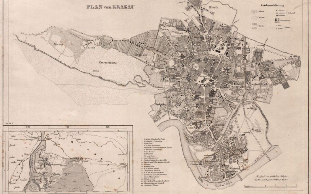 1855, Plan von Krakau