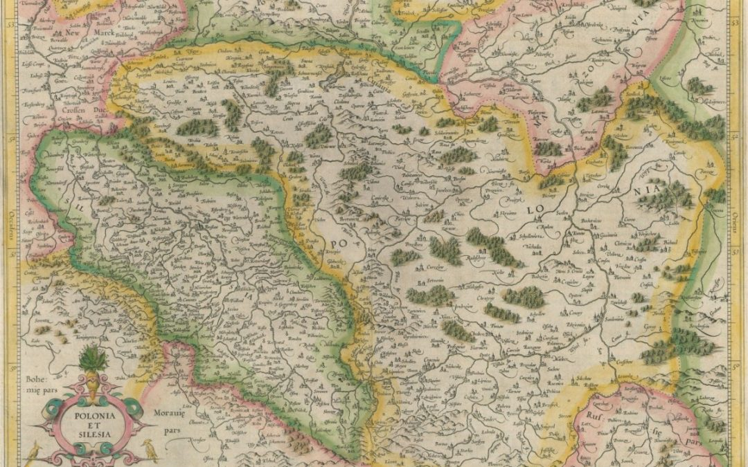 1607, Mapa Polski i Śląska Gerarda Mercatora