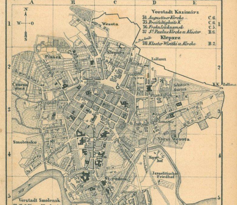 1863, Kraków wg Baedekera