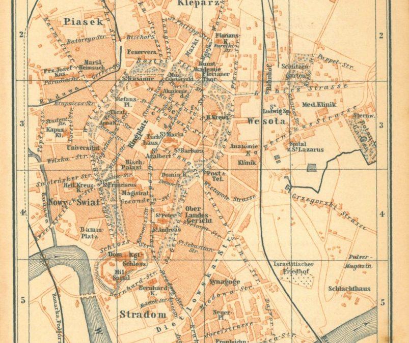 1893, Kraków wg Baedekera