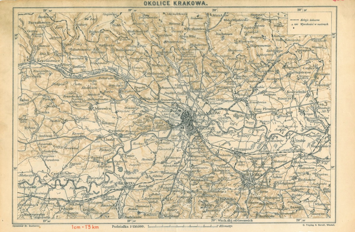 1913 Okolice Krakowa Cartographia Cracoviana Krakow I Okolice