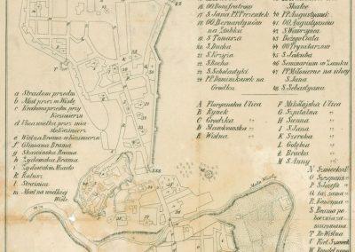 1787, Plan Miasta Krakowa i Kazimierza z dzieła Kazimierza Józefa Turowskiego