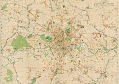 1943, Amtlicher Plan der Regierungsstadt Krakau