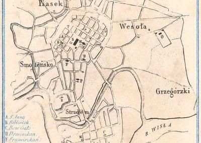 1845, Plan Miasta Krakowa