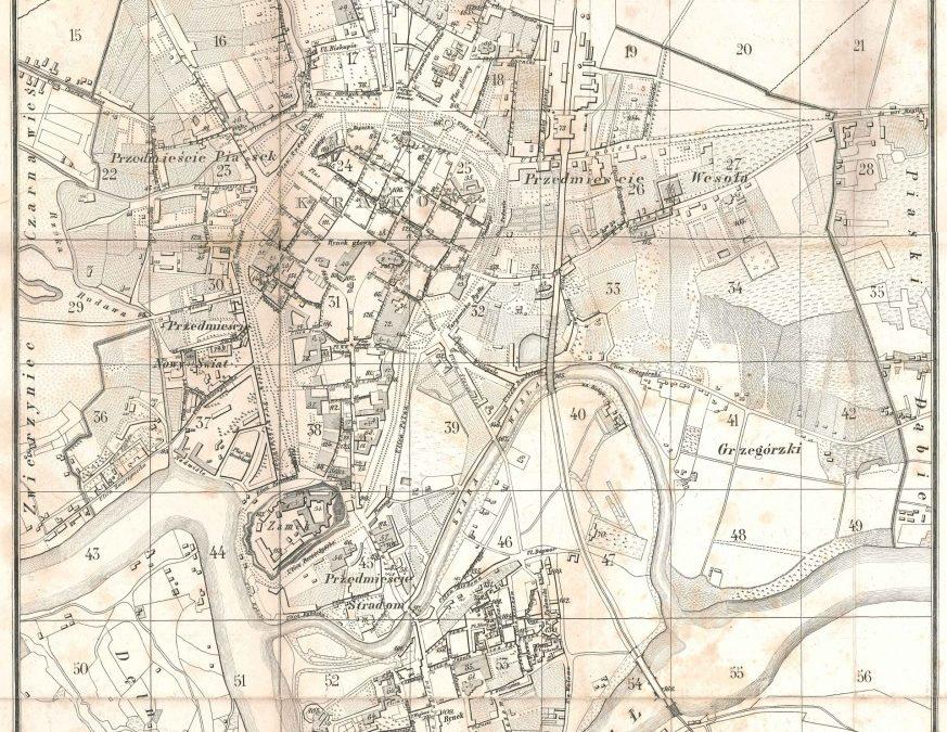 1866, Plan Krakowa T. Żebrawskiego