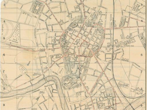 1914, Stadtplan von Krakau