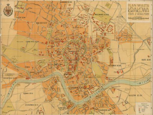 1931, Plan miasta Krakowa