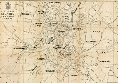 1932, Plan miasta Krakowa