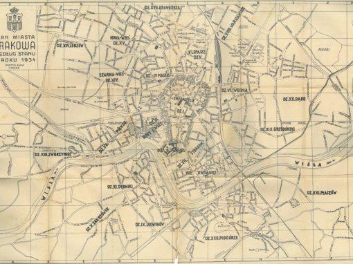 1934, Plan miasta Krakowa
