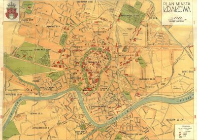 1938, Plan miasta Krakowa
