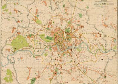 1944, Amtlicher Plan der Regierungsstadt Krakau