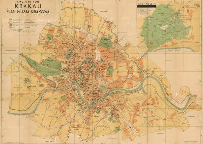 1940, Stadtplan von Krakau