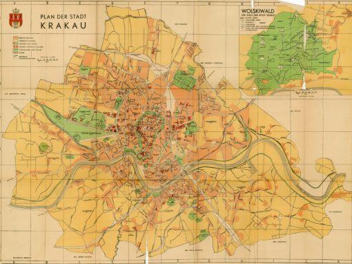 1941, Plan der Stadt Krakau