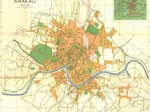 1942, Plan der Stadt Krakau