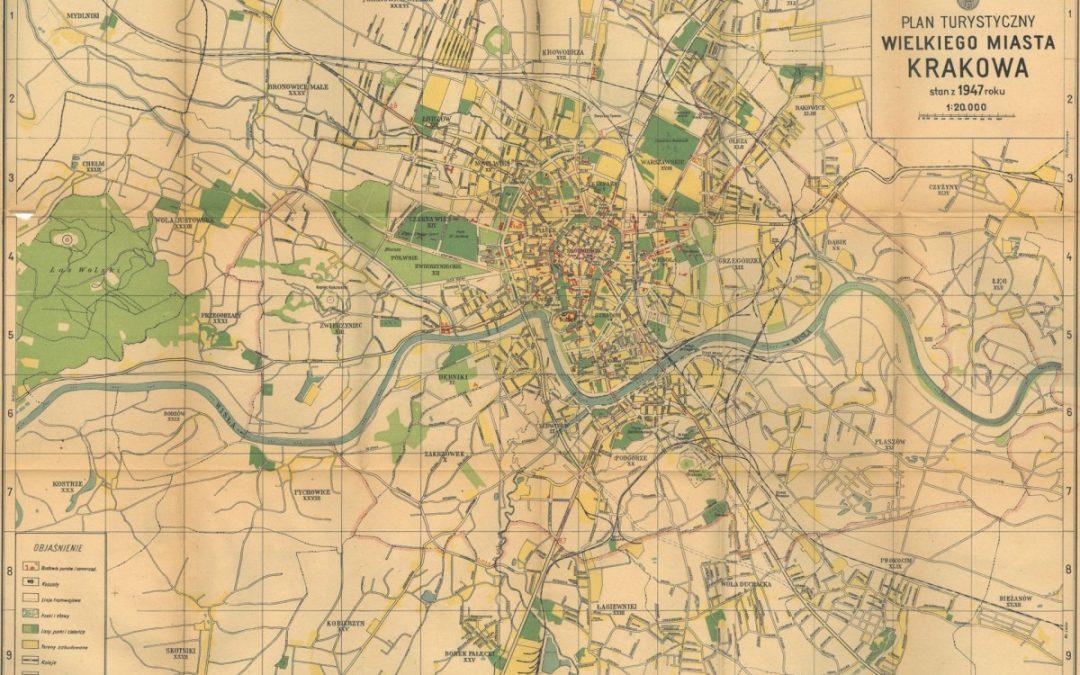 1947, Plan turystyczny wielkiego miasta Krakowa