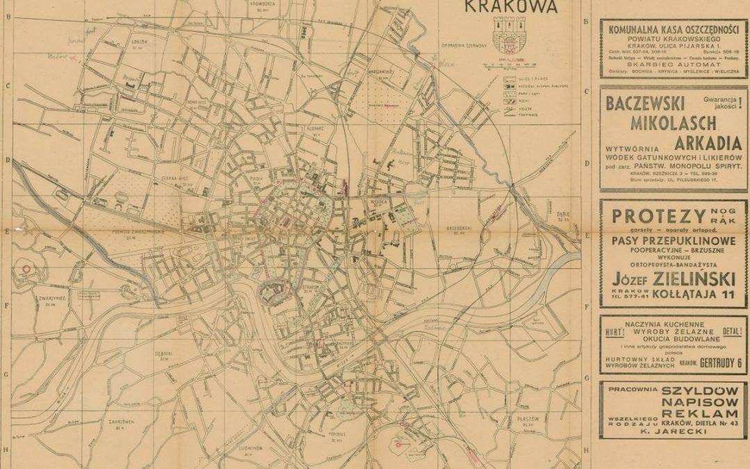 1948, Plan miasta Krakowa