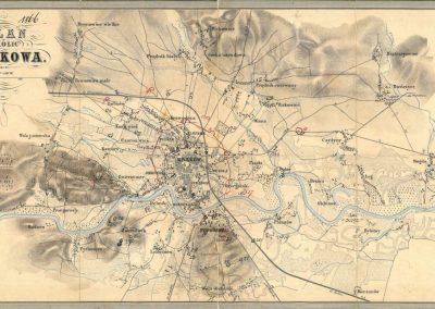 1862, Plan okolic Krakowa