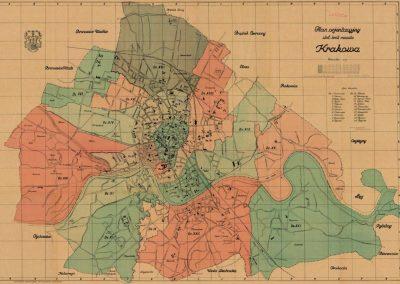 1925, Plan orientacyjny stołecznego królewskiego miasta Krakowa