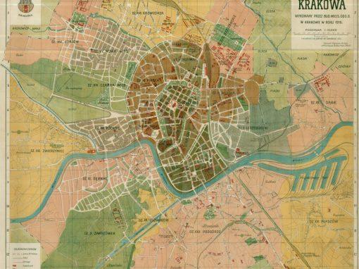 1916, Najnowszy plan stołecznego królewskiego miasta Krakowa